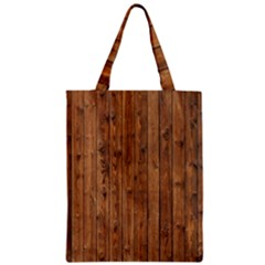 Knotty Wood Zipper Classic Tote Bags