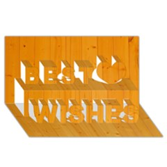 HONEY MAPLE Best Wish 3D Greeting Card (8x4)