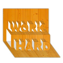HONEY MAPLE WORK HARD 3D Greeting Card (7x5)