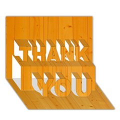 HONEY MAPLE THANK YOU 3D Greeting Card (7x5)
