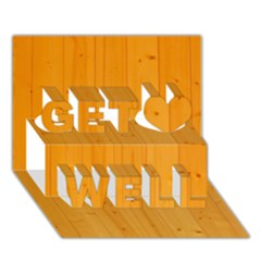 HONEY MAPLE Get Well 3D Greeting Card (7x5)