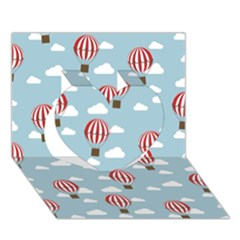 Hot Air Balloon Heart 3D Greeting Card (7x5)