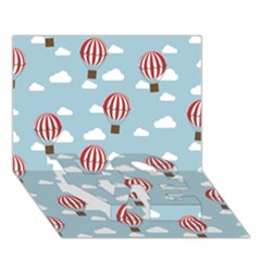 Hot Air Balloon LOVE Bottom 3D Greeting Card (7x5)