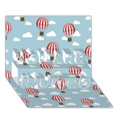 Hot Air Balloon YOU ARE INVITED 3D Greeting Card (7x5)