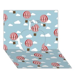 Hot Air Balloon Apple 3D Greeting Card (7x5)