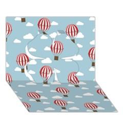 Hot Air Balloon Clover 3D Greeting Card (7x5)