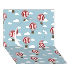 Hot Air Balloon Circle 3D Greeting Card (7x5)