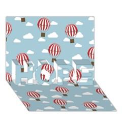 Hot Air Balloon HOPE 3D Greeting Card (7x5)