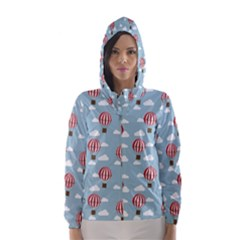 Hot Air Balloon Hooded Wind Breaker (women)