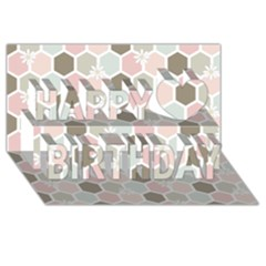 Spring Bee Happy Birthday 3D Greeting Card (8x4)