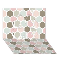 Spring Bee Clover 3d Greeting Card (7x5)