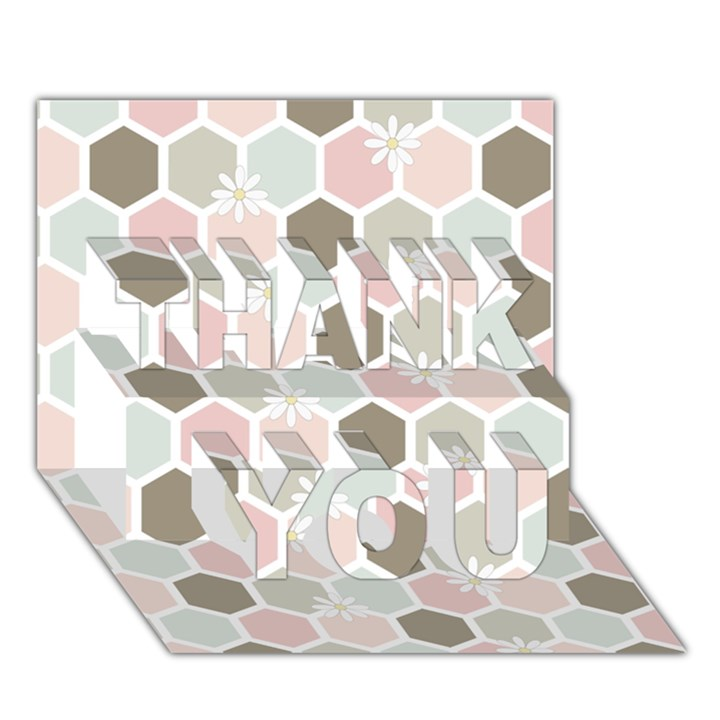 Spring Bee THANK YOU 3D Greeting Card (7x5)