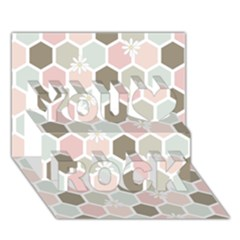 Spring Bee You Rock 3d Greeting Card (7x5)