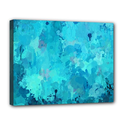 Splashes Of Color, Aqua Canvas 14  X 11