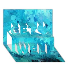 Splashes Of Color, Aqua Get Well 3D Greeting Card (7x5)