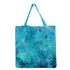 Splashes Of Color, Aqua Grocery Tote Bags