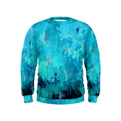 Splashes Of Color, Aqua Boys  Sweatshirts