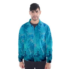 Splashes Of Color, Aqua Wind Breaker (Men)