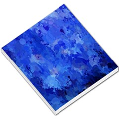 Splashes Of Color, Blue Small Memo Pads