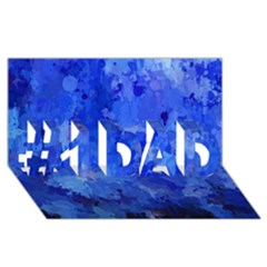 Splashes Of Color, Blue #1 DAD 3D Greeting Card (8x4)