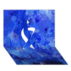 Splashes Of Color, Blue Ribbon 3d Greeting Card (7x5)