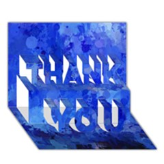 Splashes Of Color, Blue Thank You 3d Greeting Card (7x5)