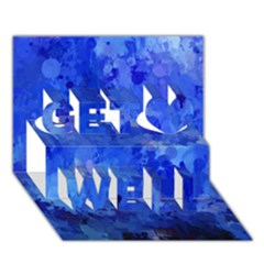 Splashes Of Color, Blue Get Well 3D Greeting Card (7x5)