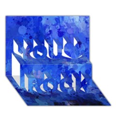 Splashes Of Color, Blue You Rock 3d Greeting Card (7x5)