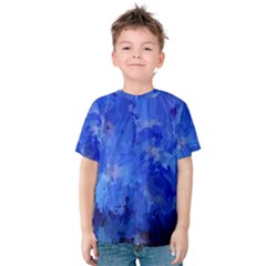 Splashes Of Color, Blue Kid s Cotton Tee