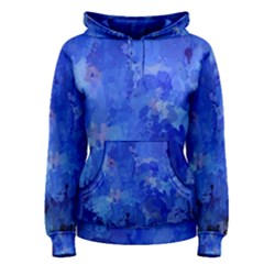 Splashes Of Color, Blue Women s Pullover Hoodies