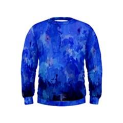 Splashes Of Color, Blue Boys  Sweatshirts