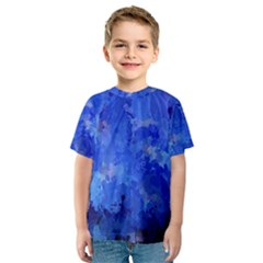 Splashes Of Color, Blue Kid s Sport Mesh Tees