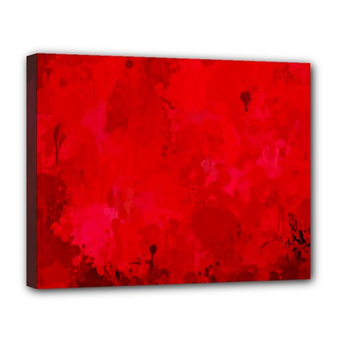 Splashes Of Color, Deep Red Canvas 14  X 11