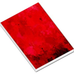 Splashes Of Color, Deep Red Large Memo Pads
