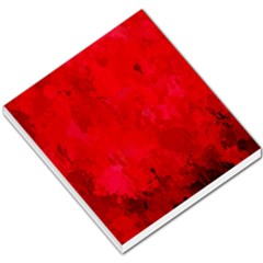 Splashes Of Color, Deep Red Small Memo Pads