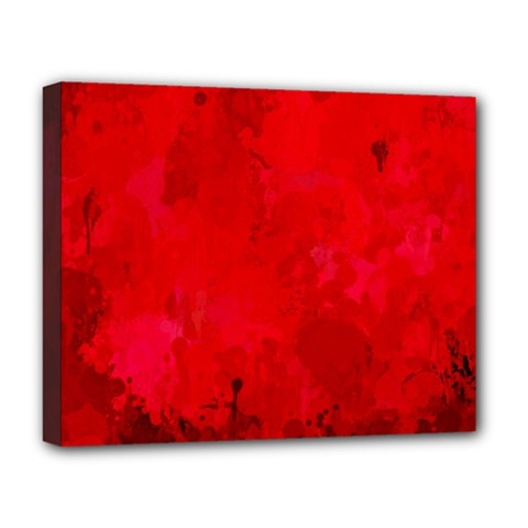 Splashes Of Color, Deep Red Deluxe Canvas 20  x 16