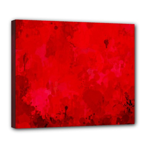 Splashes Of Color, Deep Red Deluxe Canvas 24  x 20