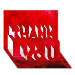 Splashes Of Color, Deep Red Thank You 3d Greeting Card (7x5)