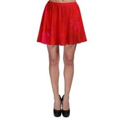 Splashes Of Color, Deep Red Skater Skirts