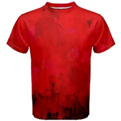 Splashes Of Color, Deep Red Men s Cotton Tees