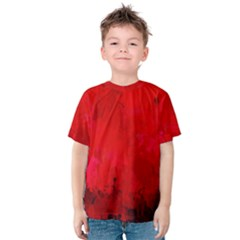 Splashes Of Color, Deep Red Kid s Cotton Tee