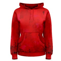Splashes Of Color, Deep Red Women s Pullover Hoodies