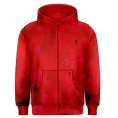 Splashes Of Color, Deep Red Men s Zipper Hoodies