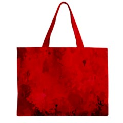 Splashes Of Color, Deep Red Zipper Tiny Tote Bags