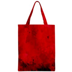 Splashes Of Color, Deep Red Zipper Classic Tote Bags