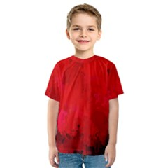 Splashes Of Color, Deep Red Kid s Sport Mesh Tees