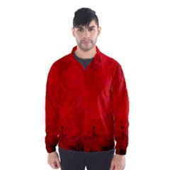 Splashes Of Color, Deep Red Wind Breaker (men)