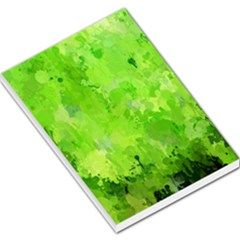 Splashes Of Color, Green Large Memo Pads