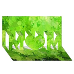 Splashes Of Color, Green Mom 3d Greeting Card (8x4)