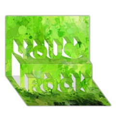 Splashes Of Color, Green You Rock 3D Greeting Card (7x5)